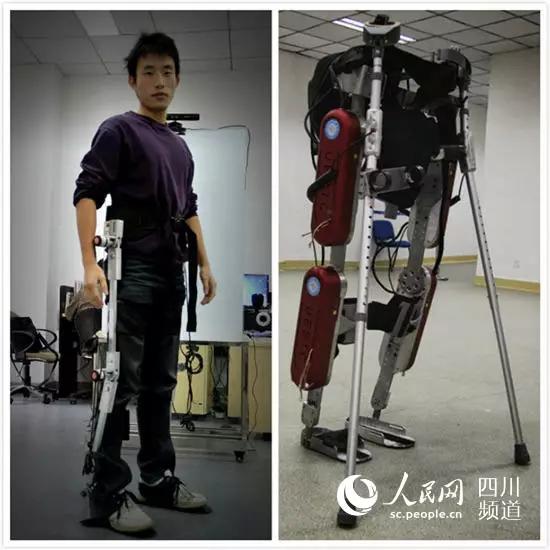 """我国自主研发出外骨骼机器人 """"人机一体""""走起来"""