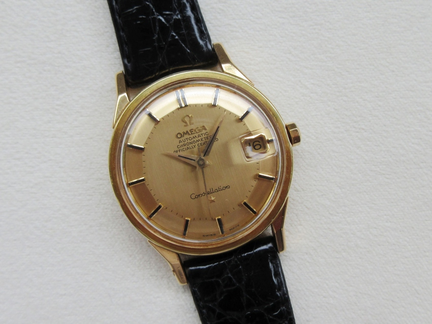 18k黄金古董omega欧米茄八卦星座图片